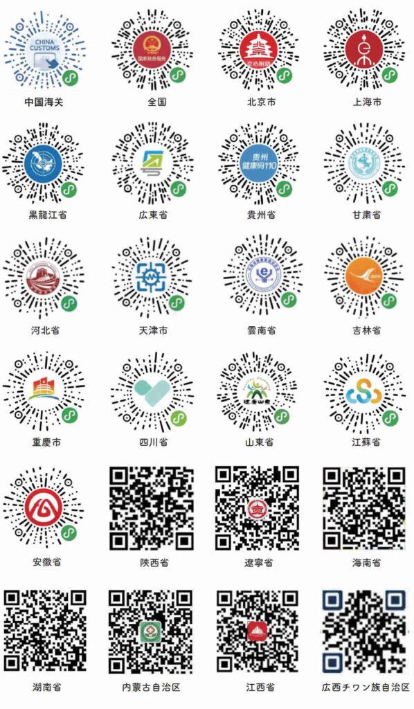 中国地域健康コード